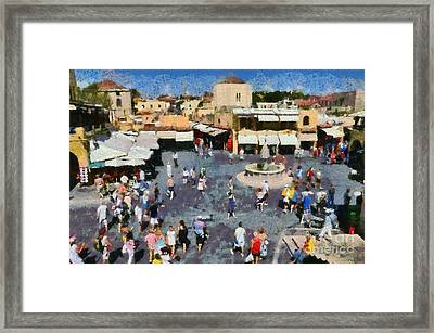 Old City Of Rhodes Framed Print by George Atsametakis