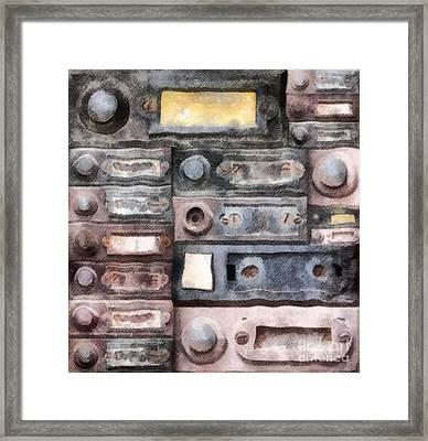 Old Doorbells Framed Print by Michal Boubin