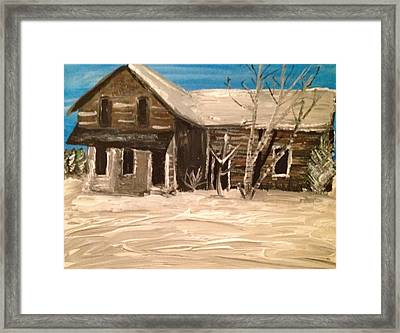 Framed Print featuring the painting Old House by Paula Brown