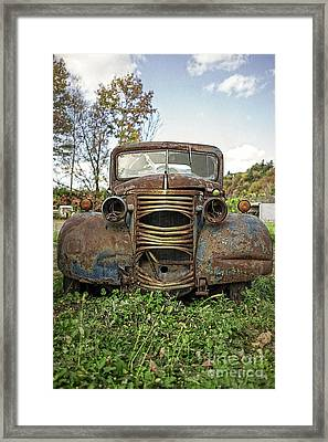 Old Junker Car Framed Print