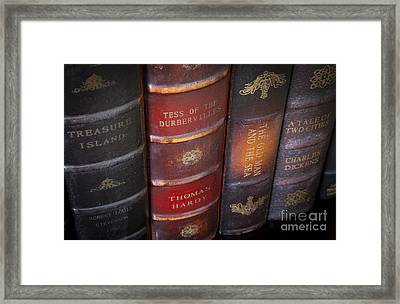 Old Novels Framed Print by Brian Jannsen