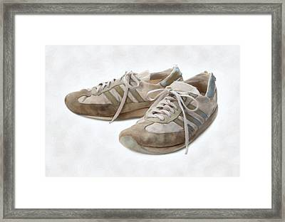 Old Running Shoes Framed Print