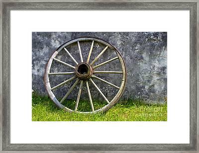 Antique Wagon Wheel Framed Print