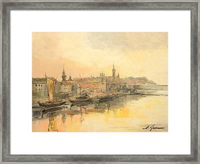 Old Warsaw - Wisla River Framed Print