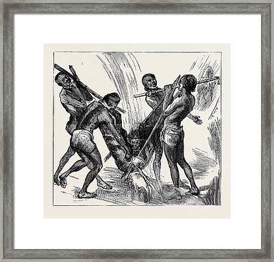 On My Way To Join My Regiment In Egypt Framed Print by Egyptian School