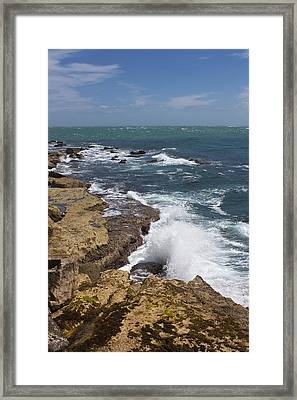 On The Rocks Framed Print by Shirley Mitchell