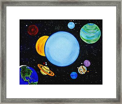 Once In A Blue Moon Framed Print by Donna Proctor
