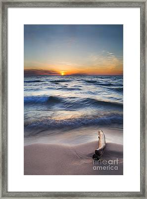 Onekama Sunset Framed Print by Twenty Two North Photography