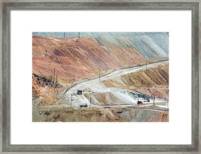 Open-cast Copper Mine Framed Print by Jim West
