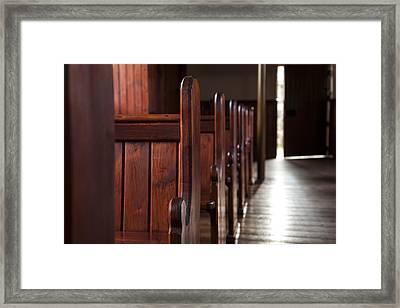Opening Door Framed Print