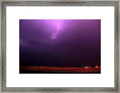 Our 1st Severe Thunderstorms In South Central Nebraska Framed Print