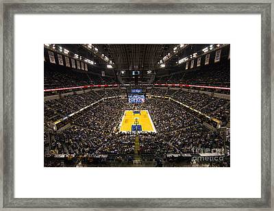 Pacers Indiana Framed Print by David Haskett