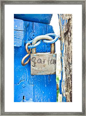 Padlock Framed Print by Tom Gowanlock