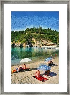 Paleokastritsa Beach Framed Print