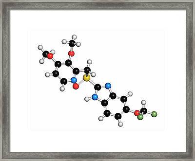 Pantoprazole Gastric Ulcer Drug Molecule Framed Print