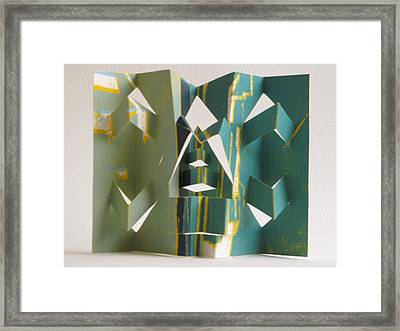 Paper Architecture Framed Print by Alfred Ng
