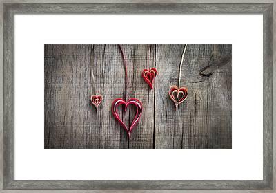 Paper Heart Decoration Framed Print