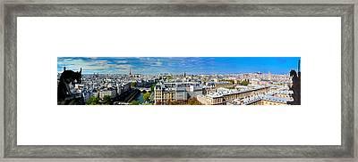 Paris Panorama France Framed Print by Michal Bednarek