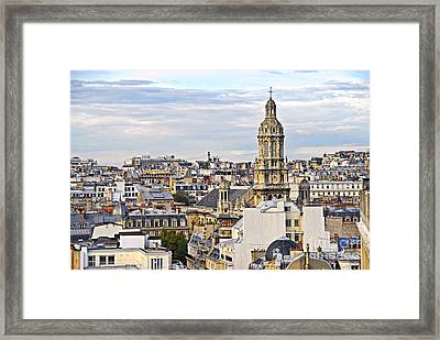 Paris Rooftops Framed Print by Elena Elisseeva