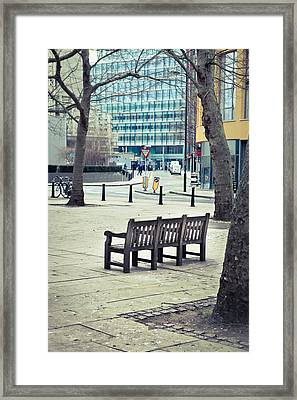 Park Bench Framed Print by Tom Gowanlock