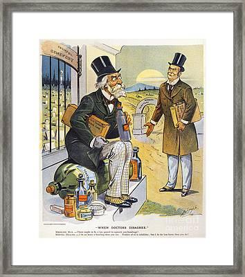 Patent Medicine Cartoon Framed Print by Granger