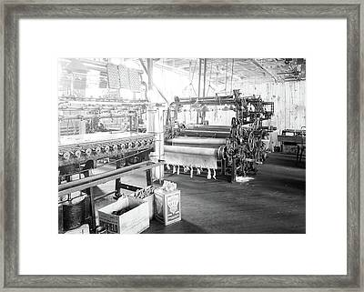 Paterson, New Jersey - Textiles. Idle Quilling Machines Framed Print by Litz Collection