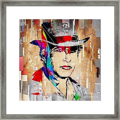 Paul Newman Collection Framed Print by Marvin Blaine