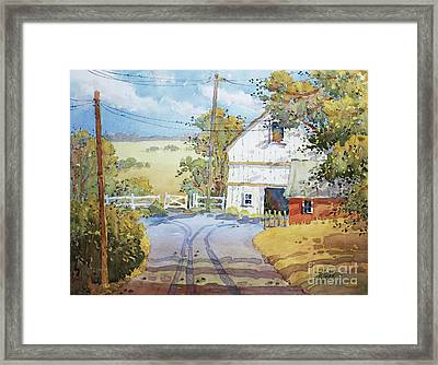 Peaceful In Pennsylvania Framed Print by Joyce Hicks