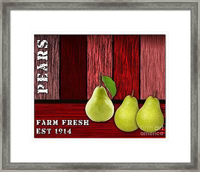 Pear Farm Framed Print by Marvin Blaine
