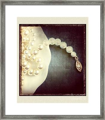 Pearls Framed Print by HD Connelly
