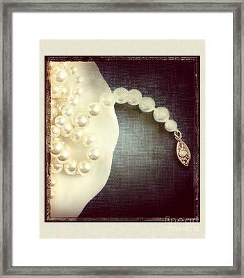 Pearls Framed Print
