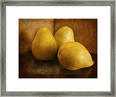 Pears Framed Print by Maria Angelica Maira