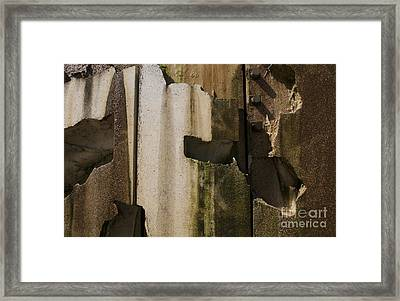 Framed Print featuring the photograph 3 Pegs Abstract IIi by Sherry Davis