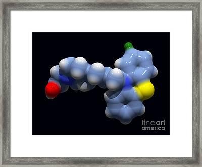 Perphenazine Antipsychotic Drug Framed Print by Dr. Tim Evans