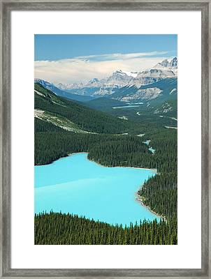 Peyto Lake. Banff National Park In Alberta. Framed Print by Rob Huntley