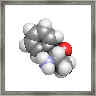 Phenylpropanolamine Drug Molecule Framed Print