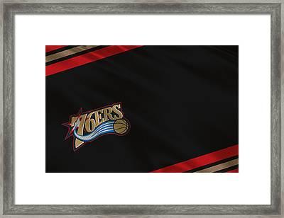 Philadelphia 76ers Uniform Framed Print by Joe Hamilton