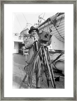 Photographer And Camera Framed Print by Granger