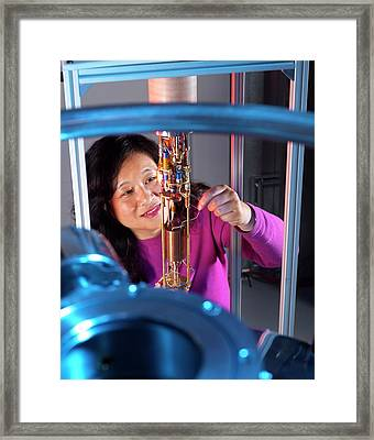 Photon Detection Framed Print by Andrew Brookes, National Physical Laboratory/science Photo Library