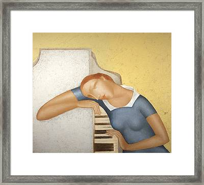 Piano Framed Print by Nicolay  Reznichenko