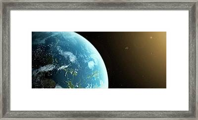 Planet Earth Framed Print by Sciepro
