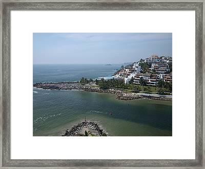 Playa El Palmar, Ixtapa Framed Print