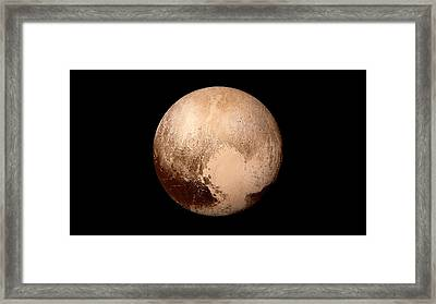 Pluto Framed Print by Nasa/johns Hopkins University Applied Physics Laboratory/southwest Research Institute