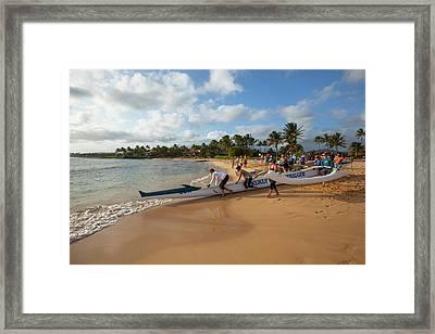 Poipu Beach Park, Poipu, Kauai, Hawaii Framed Print by Douglas Peebles