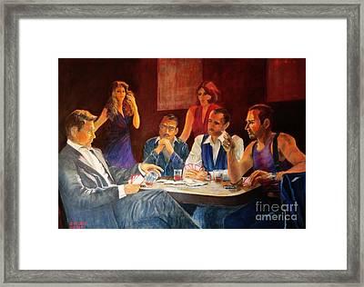 Pokertable Framed Print