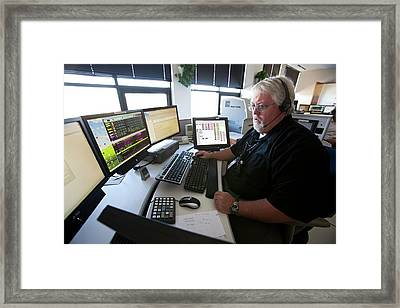 Police Dispatcher Framed Print