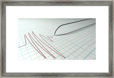 Polygraph Needle And Drawing Framed Print