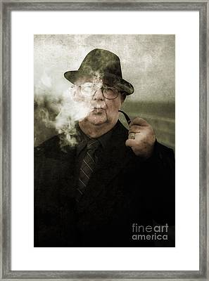 Pondering Private Eye Framed Print by Jorgo Photography - Wall Art Gallery