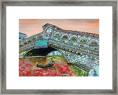 Across The Grand Canal Framed Print