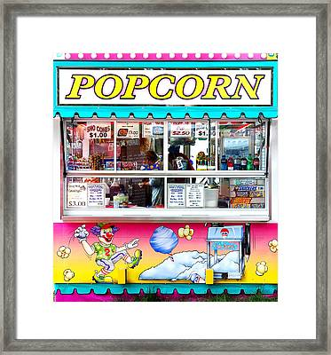 Popcorn Stand Framed Print